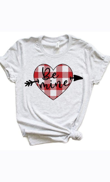 Be Mine Plaid Graphic Tee