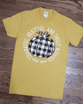 Plaid pumpkin t-shirt