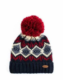 Honey Comb Pattern CC Beanie with Pom