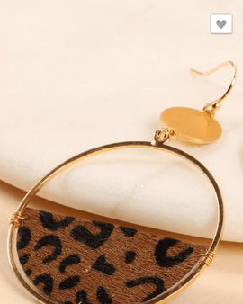 Animal Print Semi Circle Earrings