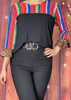 Color Block Serape and Leopard Top
