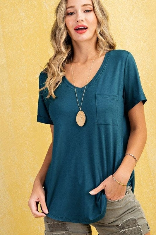 V-Neck with stiched detail