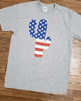 USA FLAG CACTUS T-SHIRT