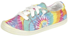 WOMENS TIE DYE RAINBOW LACE SNEAKERS