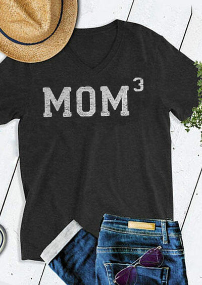 Mom Cube V-Neck Short Sleeve T-Shirt