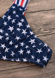 American Flag Hollow Out Bikini Set