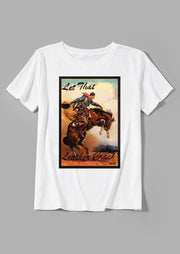 Let That Leather Crack Cowboy T-Shirt
