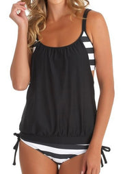 Striped Splicing Spaghetti Strap Sexy Tankini