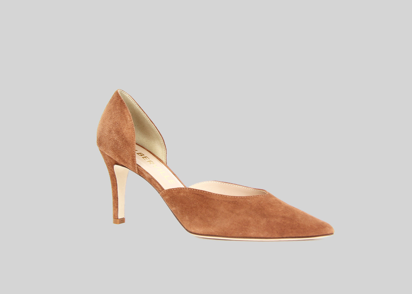 IRO NOUGAT SUEDE TWO-PIECE PUMPS