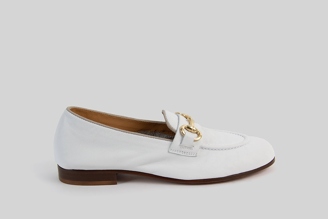 KITTY WHITE LOAFERS
