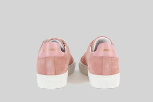 Women sneakers in antique pink suede