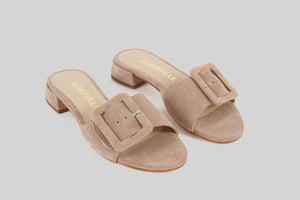 Mary Nude Slip On Sandals