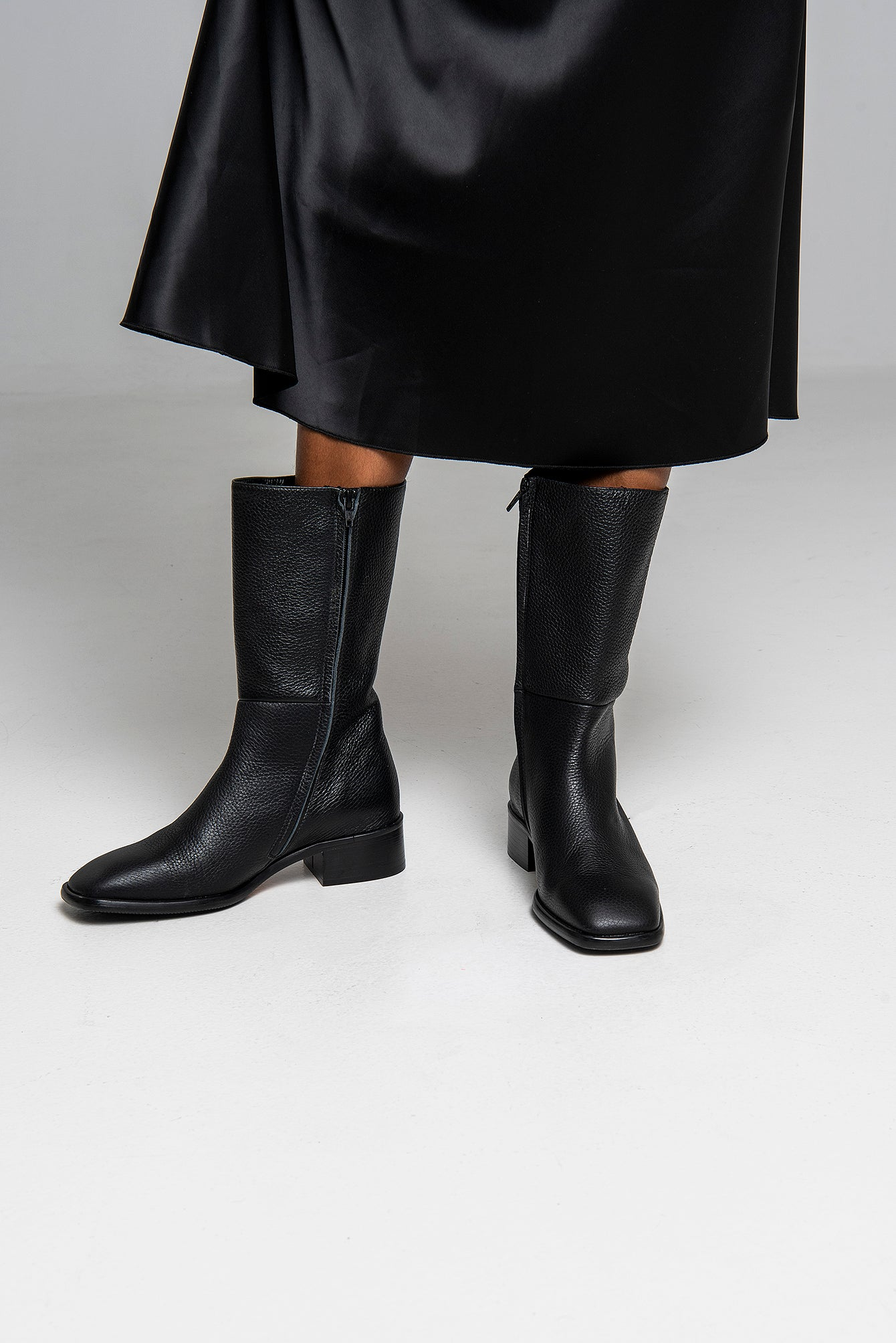 Joanna Black Mid High Boots