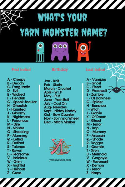 It's baaaaaaaaack! Yarn Monster name generator!