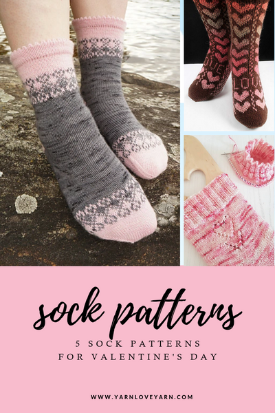 Heart Themed Sock Pattern Round Up