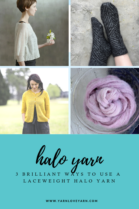 How to  Use Fluffy, Halo Style Yarn