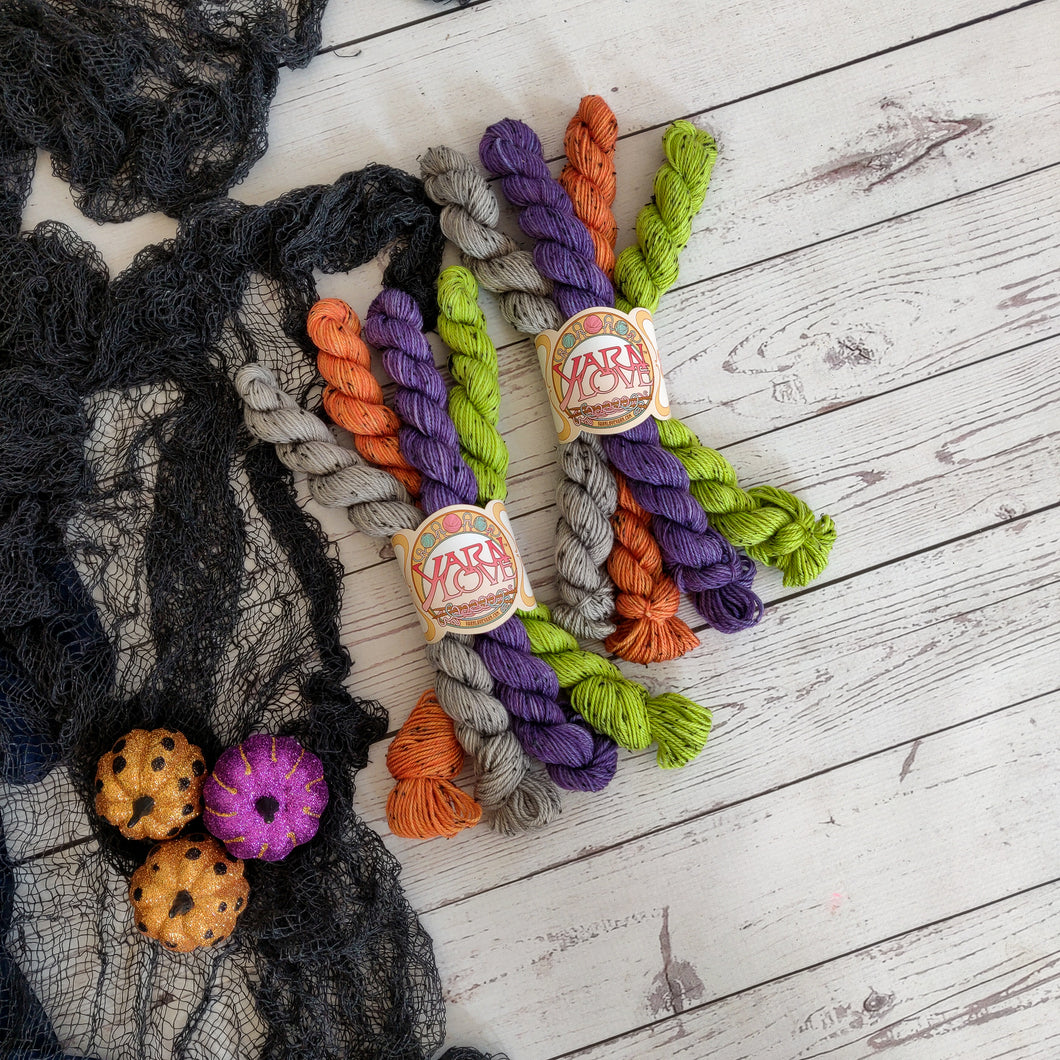 Spooky Stripes Mini Skeins