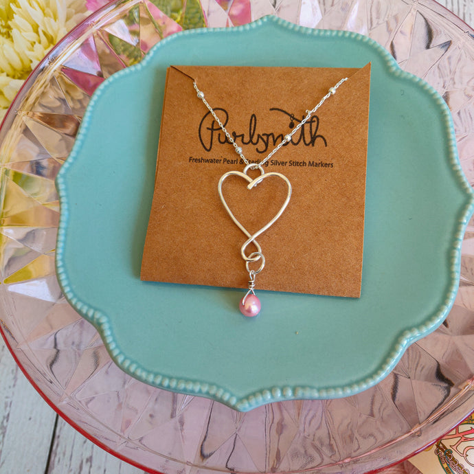 PurlSmith Open Heart Stitch Marker Necklace