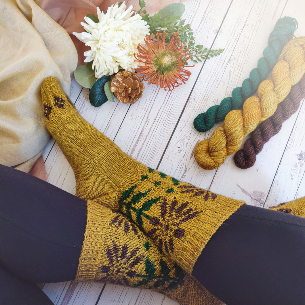 Lucky Sunflower Sock Yarn Pack