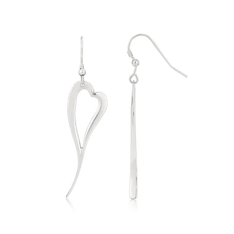 Zoe heart earrings