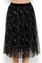 Load image into Gallery viewer, Kinsley Tulle Embroidered Skirt