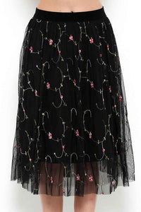 Kinsley Tulle Embroidered Skirt