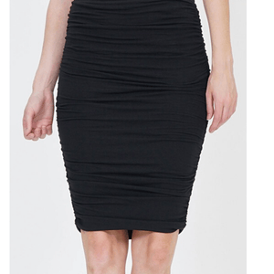 Brylee Shirred Pencil Skirt