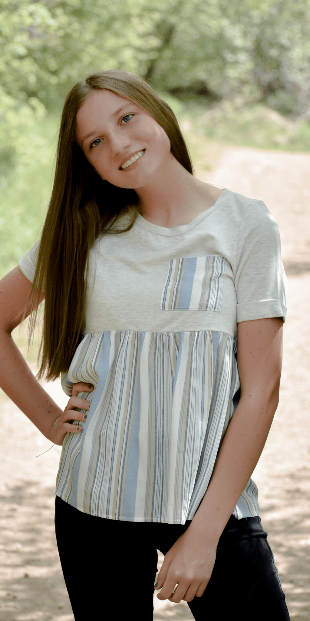 Melia Striped Top - Corky Lou