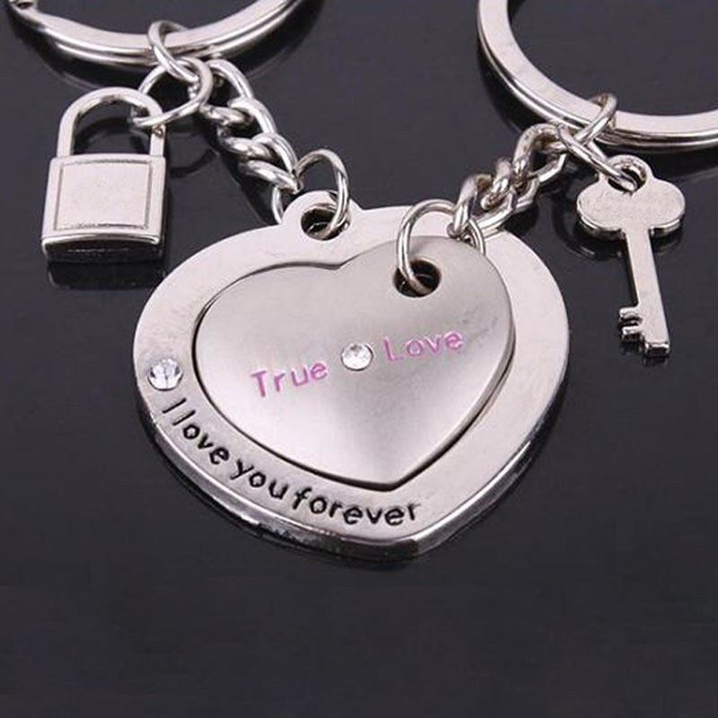 I Love You Forever Heart Keychain Distancecouples
