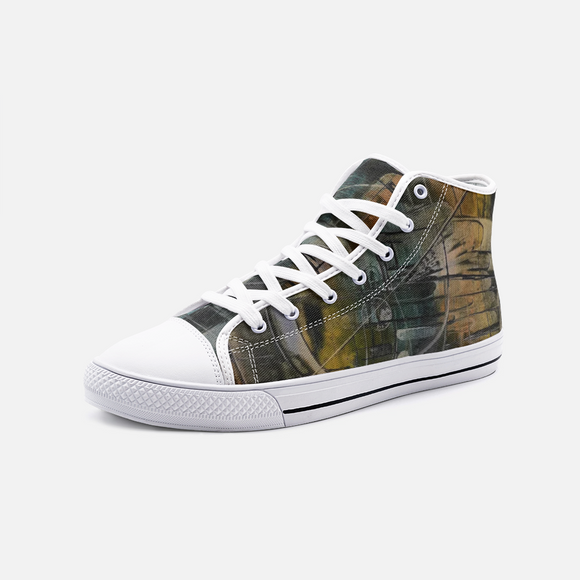 Gateway Unisex High Top Canvas Shoes- Madella-Mella Style - Shop Madella-Mella Style