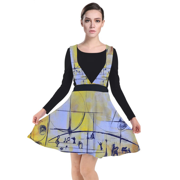 Special Collection Music of Cosmos Plunge Pinafore Dress - Shop Madella-Mella Style