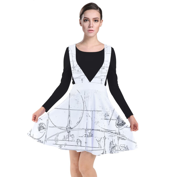 Special Collection Music 2 Plunge Pinafore Dress - Shop Madella-Mella Style