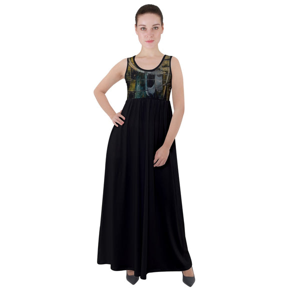Special Collection Gateway Empire Waist Velour Maxi Dress - Shop Madella-Mella Style