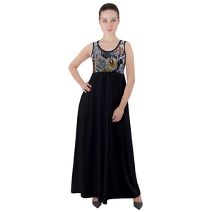 Special Collection Kommunikation Empire Waist Velour Maxi Dress - Shop Madella-Mella Style