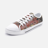 Dark Low Top Canvas Shoes Madella-Mella Style