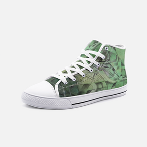 Green Unisex High Top Canvas Shoes Madella-Mella Style