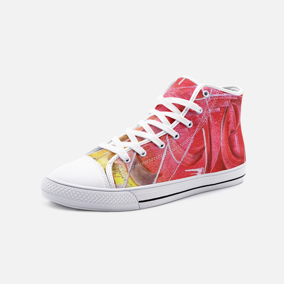 Red  High Top Canvas Shoes Madella-Mella Style
