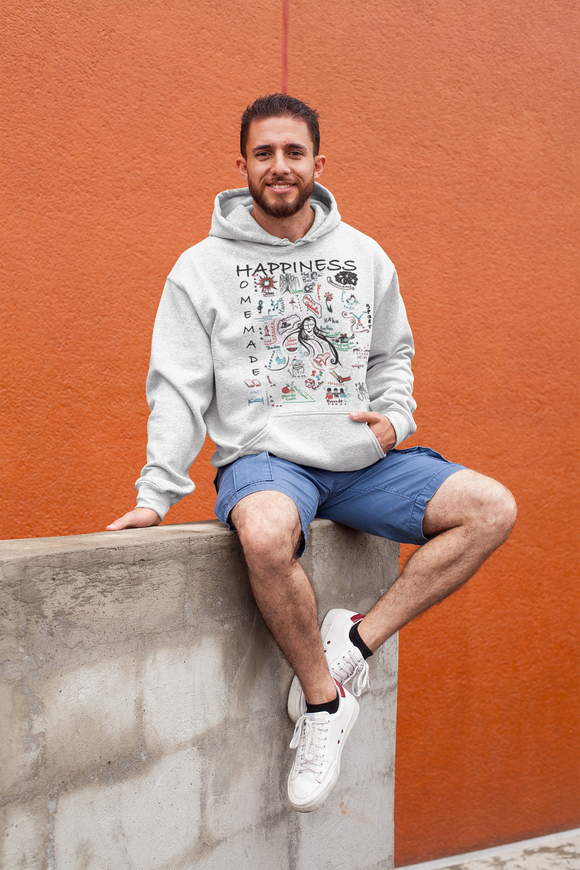 Happiness is Homemade 001 Hoodie Men´s Fashion Madella-Mella Style - Shop Madella-Mella Style