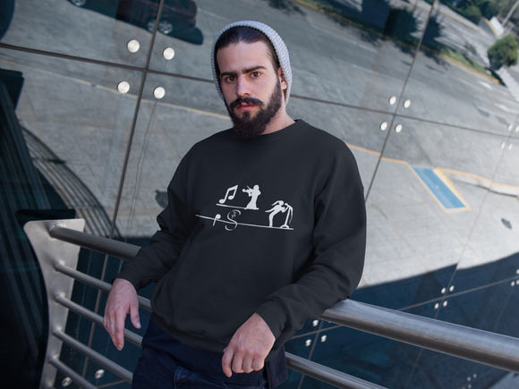 Music 003 Sweatshirt Men´s Fashion Madella-Mella Style - Shop Madella-Mella Style