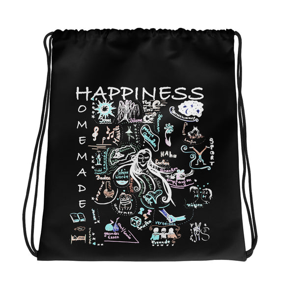 Happiness is Homemade 001  Drawstring bag Madella-Mella Style - Shop Madella-Mella Style