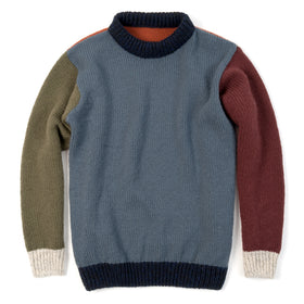 Nansen Crew Neck, Six-Color Crazy Pattern