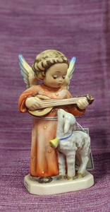 Goebel Hummel Angel Figurines - Angel Serenade w/ Lamb