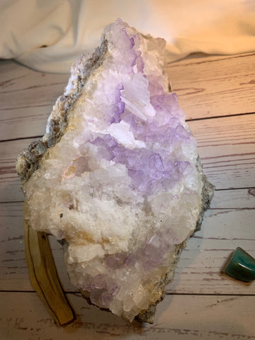 Flourite with Selenite