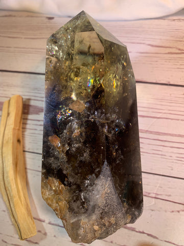 Citrine Smokey Quartz Point