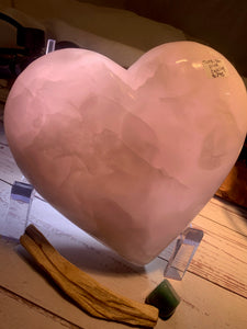 Pink Calcite Heart