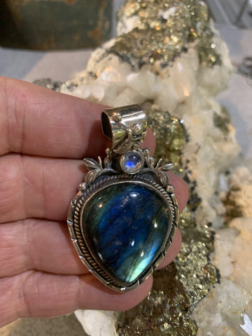 Labradorite and Moonstone Pendant