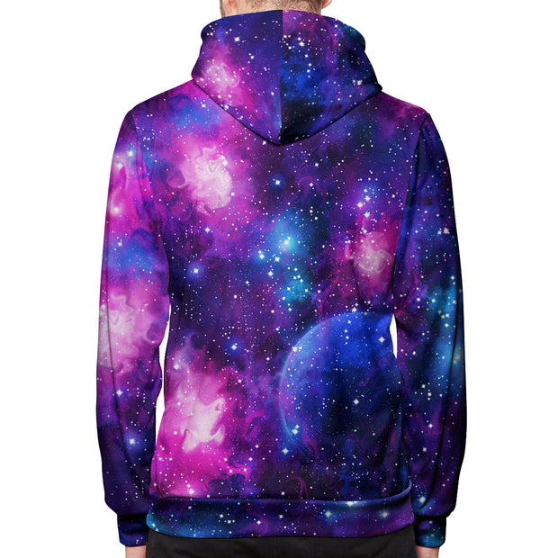 Cotton Candy Galaxy Pullover Hoodie