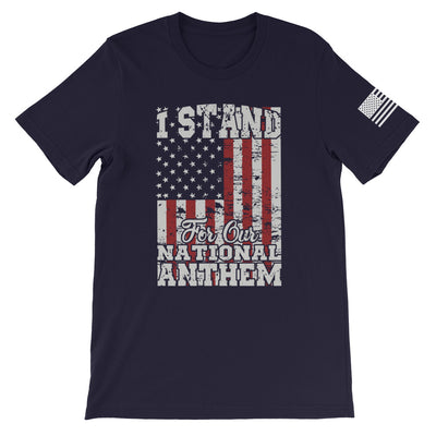 I Stand For Our National Anthem Front Print
