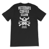 Veterans Coffee Club Death Before Decaf Back Print