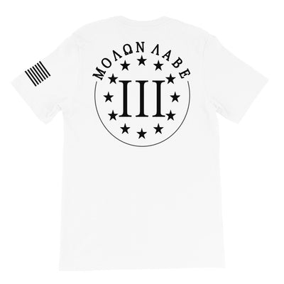 Molon Labe Three Percenter Black Back Print